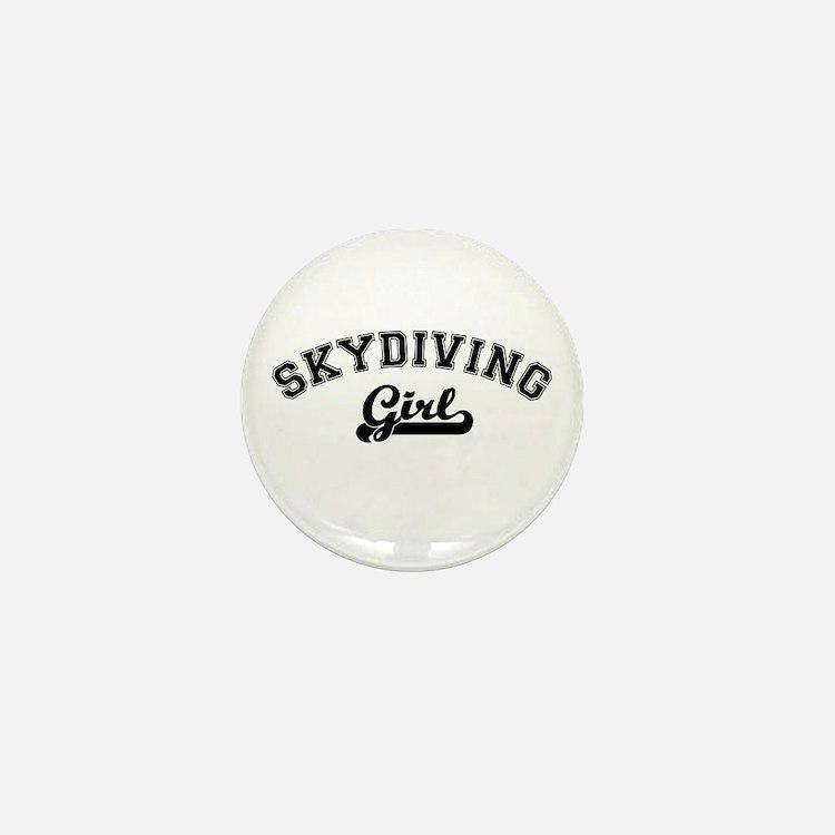 Skydiving girl Mini Button