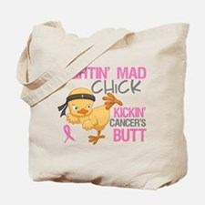 Fightin' Mad Chick Breast Cancer Tote Bag