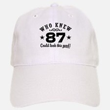 Funny 87th Birthday Baseball Baseball Cap