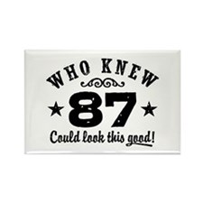 Funny 87th Birthday Rectangle Magnet