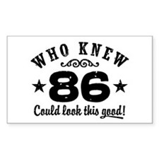 Funny 86th Birthday Decal