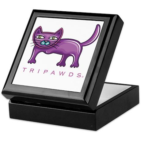 Tripawds Three Legged Cat Keepsake Box
