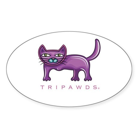 Tripawds Three Legged Cat Sticker (Oval)