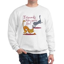 Tripawd Cats Have Fun Sweatshirt