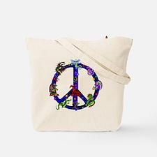 Peace Flame Tote Bag