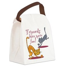 Tripawd Cats Have Fun Canvas Lunch Bag
