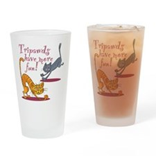 Tripawd Cats Have Fun Drinking Glass