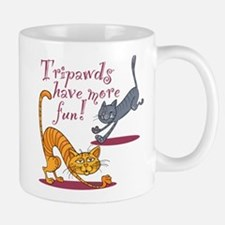 Tripawd Cats Have Fun Mugs
