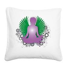 Namaste Square Canvas Pillow