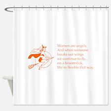 women-broomstick-z Shower Curtain