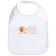 women-broomstick-orange Bib