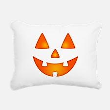 Happy Pumpkin Face Rectangular Canvas Pillow