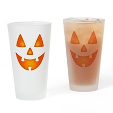 Happy Pumpkin Face Drinking Glass