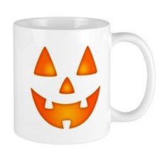Happy Pumpkin Face Mugs