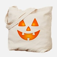 Happy Pumpkin Face Tote Bag