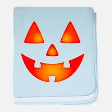 Happy Pumpkin Face baby blanket