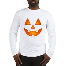 Happy Pumpkin Face Long Sleeve T-Shirt