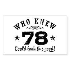 Funny 78th Birthday Decal