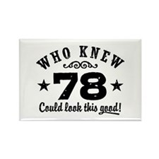 Funny 78th Birthday Rectangle Magnet