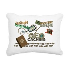 Geocache Fever Rectangular Canvas Pillow