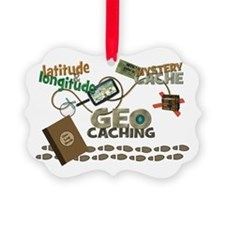 Geocache Fever Picture Ornament