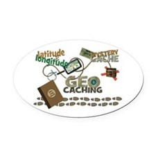 Geocache Fever Oval Car Magnet