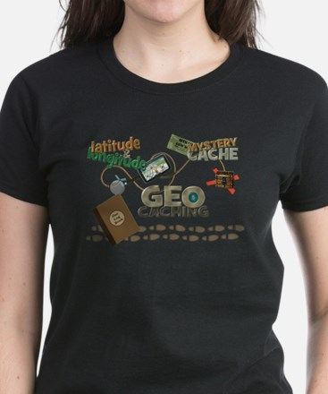 Geocache Fever Women's Dark T-Shirt