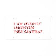 grammar-pre-red Aluminum License Plate