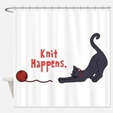 Knit Happens Shower Curtain