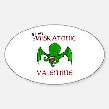 Miskatonic valentine Oval Decal