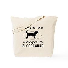 Adopt A Bloodhound Dog Tote Bag
