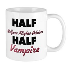 Half Welfare Rights Adviser Half Vampire Mugs