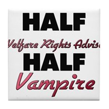 Half Welfare Rights Adviser Half Vampire Tile Coas
