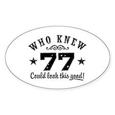 Funny 77th Birthday Decal
