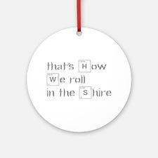 roll-in-shire-break-gray Ornament (Round)