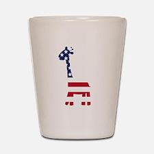 American Flag Giraffe Shot Glass