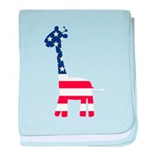 American Flag Giraffe baby blanket