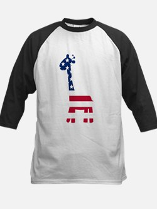 American Flag Giraffe Baseball Jersey