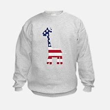 American Flag Giraffe Sweatshirt