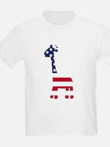 American Flag Giraffe T-Shirt