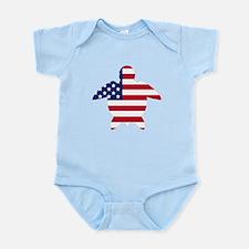 American Flag Sea Turtle Body Suit