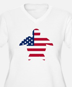 American Flag Sea Turtle Plus Size T-Shirt