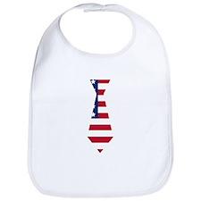 American Flag Neck Tie Bib