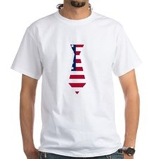 American Flag Neck Tie T-Shirt