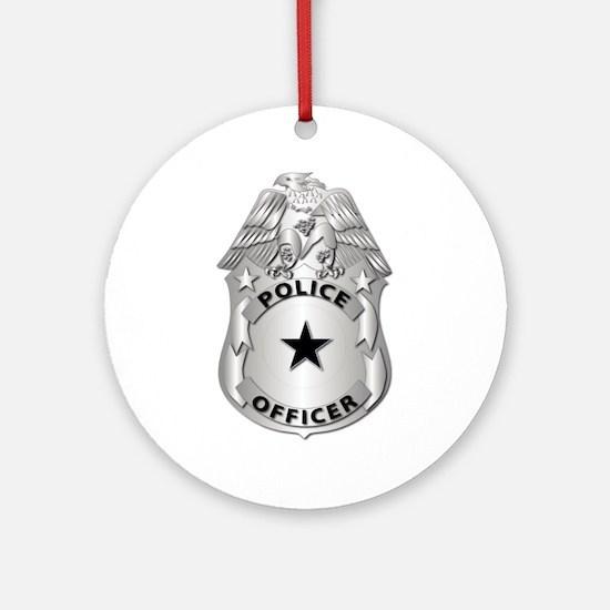 Gov - Police Officer Badge Ornament (Round)