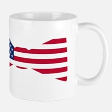 American Flag Bowtie Mugs