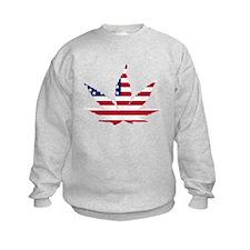 American Flag Weed Leaf Sweatshirt