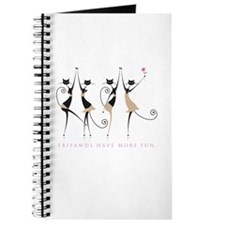 Fun Tripawd Cats Dancing Journal