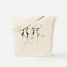 Fun Tripawd Cats Dancing Tote Bag