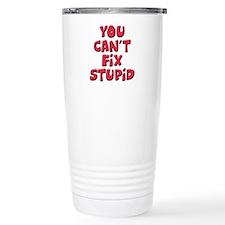 Fix Stupid Travel Coffee Mug